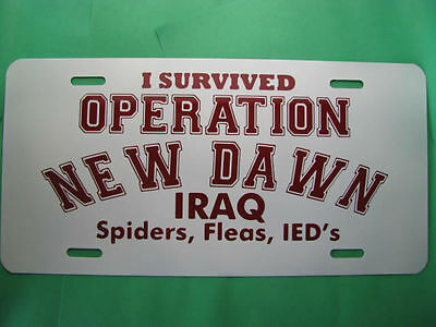 License Plate, I Survived Operation New Dawn-IRAQ-NEW