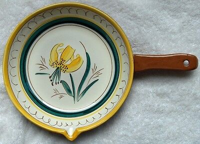 Stangl Garden Flower stick handle casserole/skillet