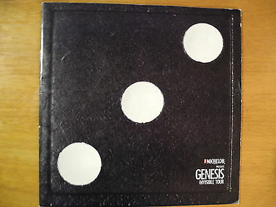 "GENESIS - ""InvisibleTouch"" 1986 TOUR PROGRAM - ORIG (12""x12"") Michelob Presents"