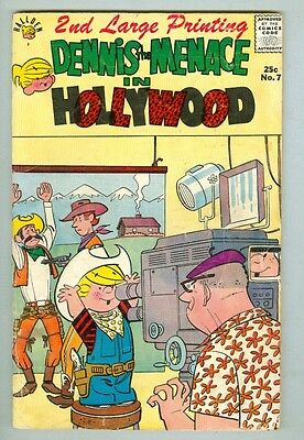 Dennis the Menace in Hollywood #7 G/VG 1961