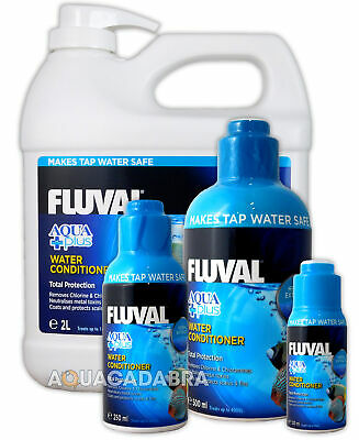 FLUVAL AQUAPLUS 120ml,250ml,500ml,2 LITRE FISH TANK TAP WATER AQUA PLUS NUTRAFIN