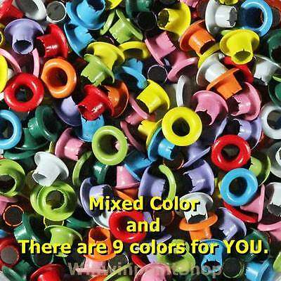"200 Pcs 1/8"" Eyelet Mixed Colors Eyelet Scrapbooking Card Hole Craft Leather"