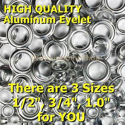 "50 Pcs 1/2"" 3/4"" 1"" Aluminum Round Eyelet Washer Card Hole Leather Canvas Craft"