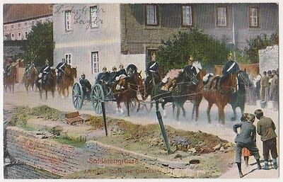 GERMANY: Old Postcard - German Artillery in marching order (Begin of XX century)