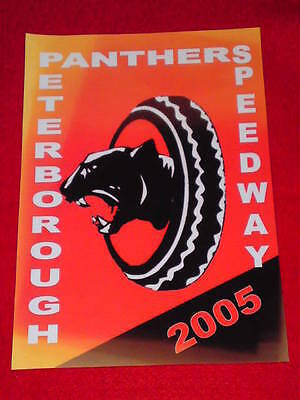 SPEEDWAY BOARD INSERT (165x240mm) - PETERBOROUGH PANTHERS 2005