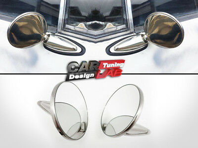 60's 70's 80's Vintage Classic Round Chrome Mirrors SET universial for any car