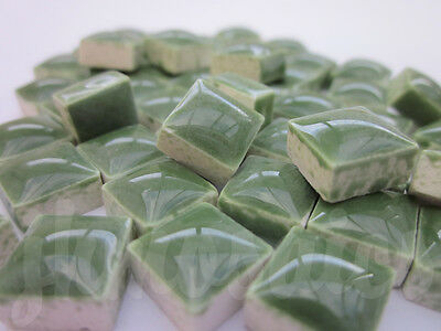 100pcs - 110grams Micro Ceramic Mosaic Tiles Forest Green GD2