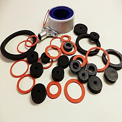 Tap Repair Kit Sinks Baths Kitchen Shower Pipe Joints Fittings Seals Key  Tape