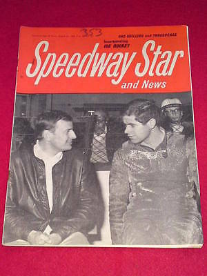 SPEEDWAY STAR AND NEWS - Aug 12 1966 Vol 15 # 22