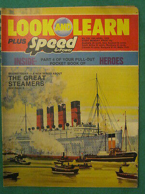 LOOK and LEARN # 743 - THE GREAT STEAMERS - 10 April 1976