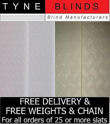 """*POPULAR* - REPLACEMENT SLATS for Vertical Blinds - 3.5"""" (89mm) - WINDRUSH"""