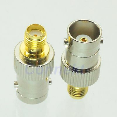 1pce BNC female jack to SMA female jack RF adapter connector