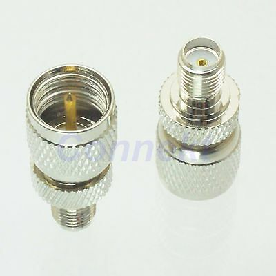 1pce mini UHF miniUHF male plug to SMA female jack RF coaxial adapter connector
