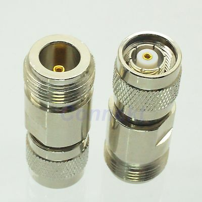 1pce N female jack to RP-TNC male jack center RF coaxial adapter connector