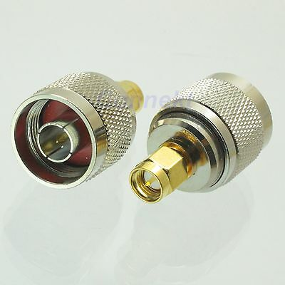 1pce N male plug to SMA male plug RF coaxial adapter connector