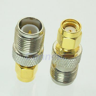1pce RP-TNC female plug to RP-SMA male jack center RF coaxial adapter connector