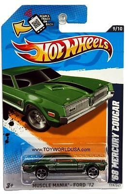 2012 Hot Wheels #119 Muscle Mania - Ford 1968 Mercury Cougar Kmart exclusive