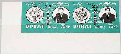 DUBAI 1964 144 B pair 1st Day of Death Ann Kennedy unissued 22 November ovp MNH