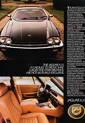 1983 Jaguar XJ-S XJS luxury - Classic Vintage Advertisement Ad A84-B