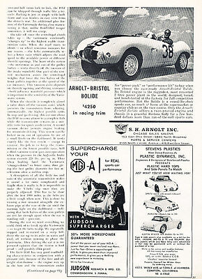 1960 Arnolt-Bristol Bolide - Classic Vintage Advertisement Ad A88-B