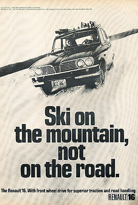 1970 Renault 16 - ski - Classic Vintage Advertisement Ad A89-B