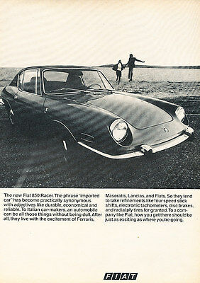 1970 Fiat 850 Racer - Classic Vintage Advertisement Ad A89-B