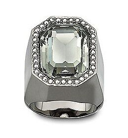 NEW SWAROVSKI vintage-inspired Meteor Ring Black Diamond crystal 58/L/8,1065794