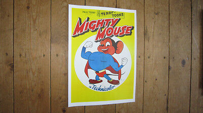 Mighty Mouse Fantastic Repro POSTER