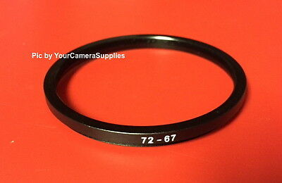 1(one) Black Metal 72mm to 67mm 72-67mm Step-Down Filter Ring-Adapter 72-67 mm