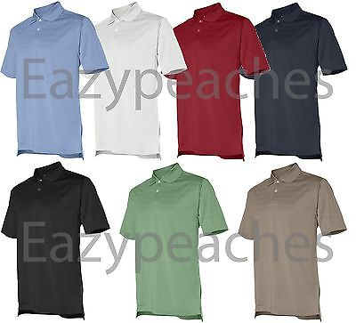 ADIDAS GOLF - Men's S-L XL XXL 3XL Climalite Max Mesh Solid Textured Polo Shirts