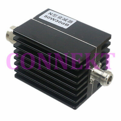 N Male to Female connector DC-3GHz 30W 5dB Coaxial Power Attenuator  #HS57 YD