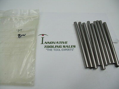 M Dia 4 1/2 IN OAL Drill Blank High Speed Steel Bright USA 9pcs