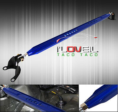 2002-2006 Mitsubishi Lancer Es Ls Oz Jdm Rear Upper Strut Wide Bar Brace Blue