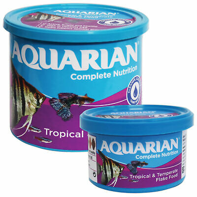 Genuine Aquarian Tropical Fish Flake Food 25G,50G,200G Fish Tank Aquarium Flakes