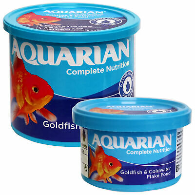 Aquarian Goldfish Flake Food 25G,50G,200G Fish Tank Aquarium Flakes Genuine