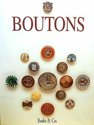 BUTTONS french BOOK / BOUTONS collection guide antique ceramic glass ivory metal