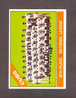 1966 Topps #204 Chicago Cubs team