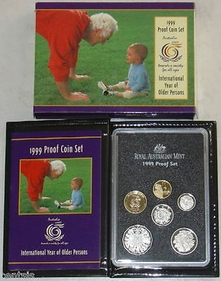 AUSTRALIA 1999  International Year of Older Persons, PROOF COIN SET HIGH CV$$!!!