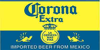 "Corona Extra Vinyl Sticker Decal 6"" vintage full color"
