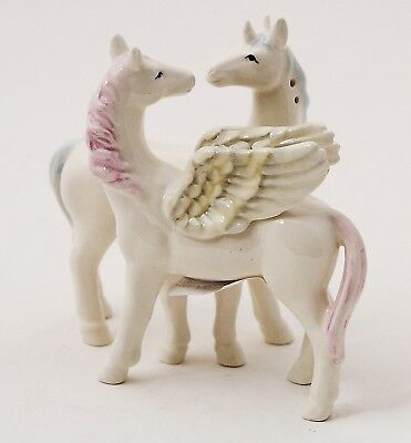 Mythical Unicorn And Pegasus Attractives Ceramic Magnetic Salt Pepper Shakers