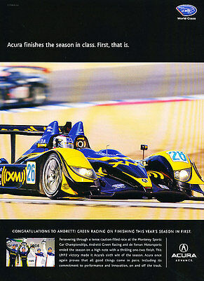 2008 Acura LMP2 Andretti Race - Classic Vintage Advertisement Ad A94-B