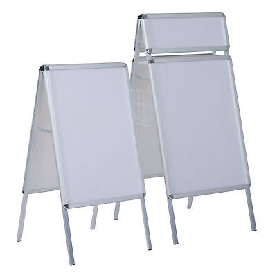 A1 A-board Display Frame Snap Poster Stands With Basket Pavement Sign