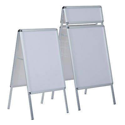 Poster Stand Display Snap Pavement Sign Aluminum Frame Board Outdoor Shop Stands