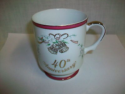 Lefton China 40th Anniversary Coffee Cup Mug c. 1984 Japan