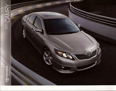 2011 11 Toyota Camry oiginal sales brochure MINT