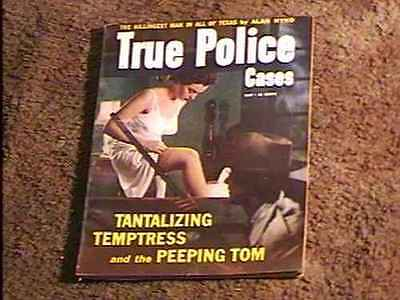 TRUE POLICE CASES MAGAZINE MAY '54 FINE  MENS MAG