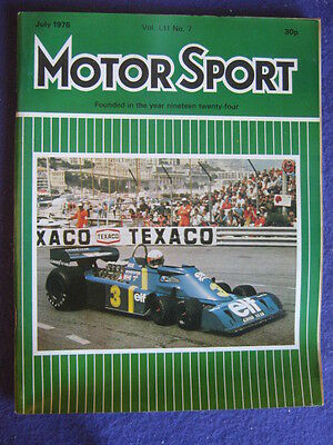 MOTORSPORT - July 1976 vol 52 # 7