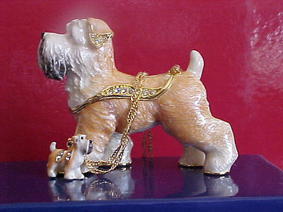 Wil ~ The Wheaton Terrier Enamel Box & Matching Necklace #62645