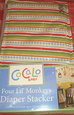 Pretty CoCaLo Baby Four Lil' Monkeys  Diaper Stacker GREAT PRICE!