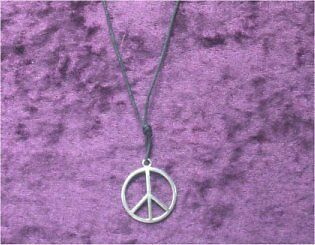 PEACE SIGN Necklace - Hippy Boho Pagan Witch